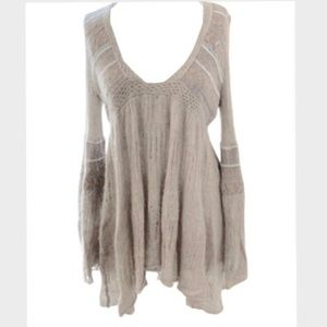 Free People Mohair blend Sweater dress BOHO sleeve